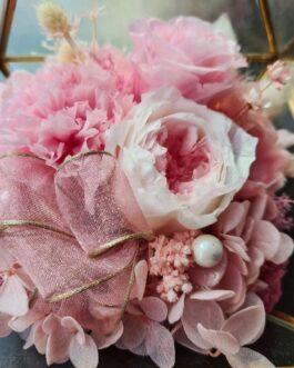 Goldenes Terrarium rosa Mix