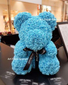 Blauer Rosenbär M