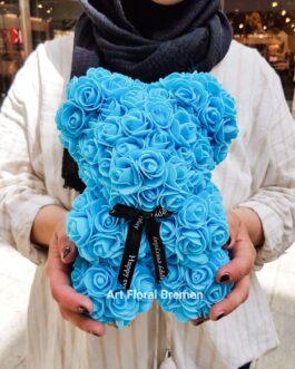 Blauer Rosenbär S