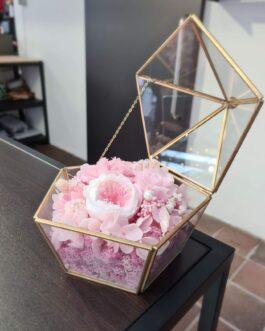 Schatullen-Terrarium rosa Mix